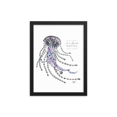 Chandelier Jellyfish Framed Art Print