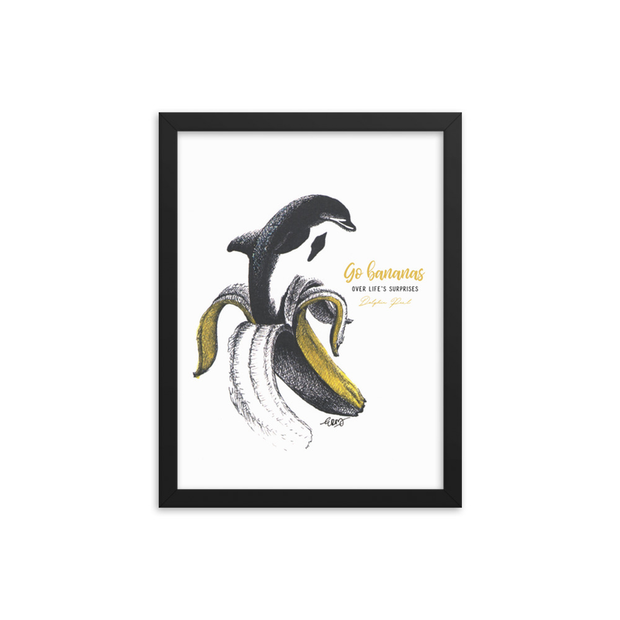 Dolphin Peel Framed Art Print