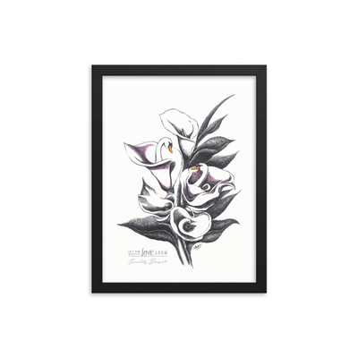 Swanlily Bouquet Framed Art Print