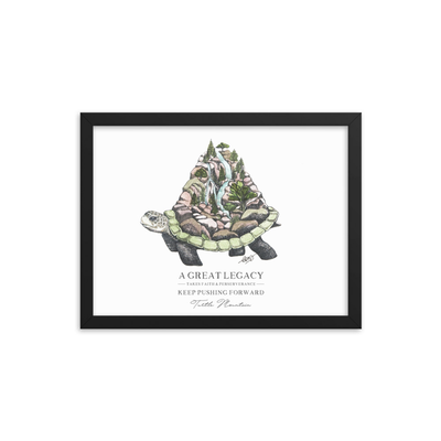 Turtle Mountain Framed Art Print
