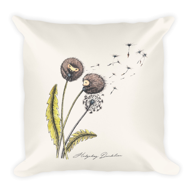 Hedgehog Dandelion Decor Pillow (Two-Sided)
