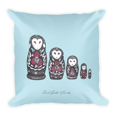 Owl Doll Family Decor Pillow (Two-Sided)