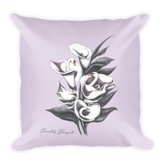 Swanlily Bouquet Decor Pillow (Two-Sided)