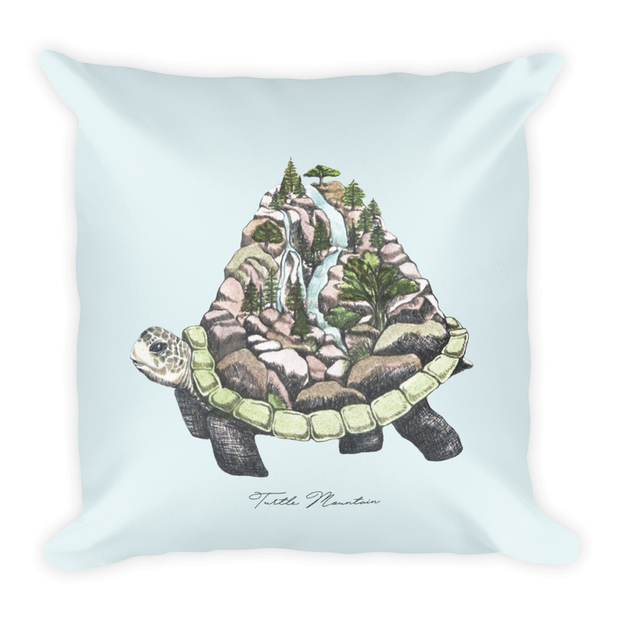 Turtle Mountain Decor Pillow (Two-Sided)