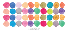 Watercolour Rainbow Fabric Wall Decal Dots - A Creative Hart