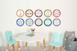 Australian Aboriginal Number Wall Decals 1-10 - A Creative Hart