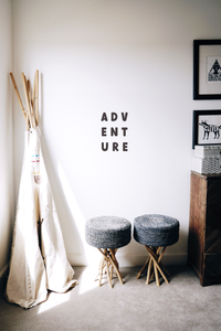 Adventure Wall Quote Typography | A Creative Hart Fabric Wall Decal - A Creative Hart