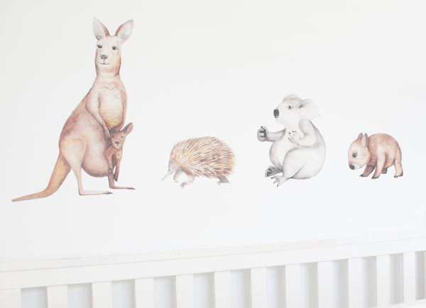 Kangaroo, Koala, Wombat and Echidna Australian Animal Wall Stickers | A Creative Hart - A Creative Hart