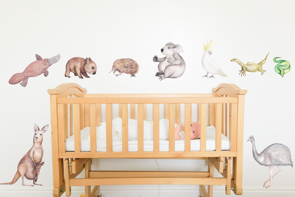 Australian Animal Fabric Wall Decals | A Creative Hart - A Creative Hart