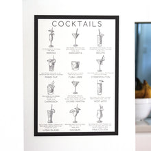 Cocktails Fabric Wall Decal A3 Poster - A Creative Hart