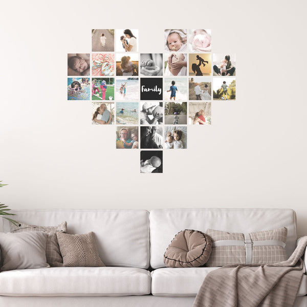 Heart Shape Photo Wall | A Creative Hart Fabric Wall Decals - A Creative Hart