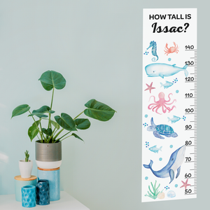 Under the Sea Height Chart Fabric Wall Decal - A Creative Hart