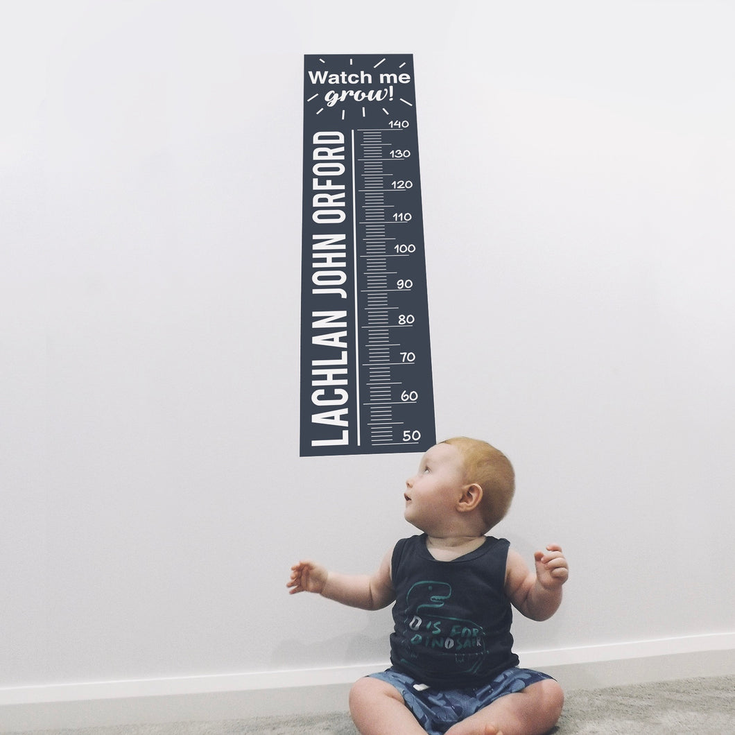 Height Chart Fabric Wall Decal - A Creative Hart