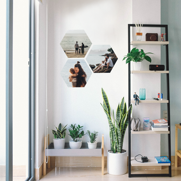 Photo Wall Decals - Hexagonal  25-40cm ( Set of Three ) - A Creative Hart