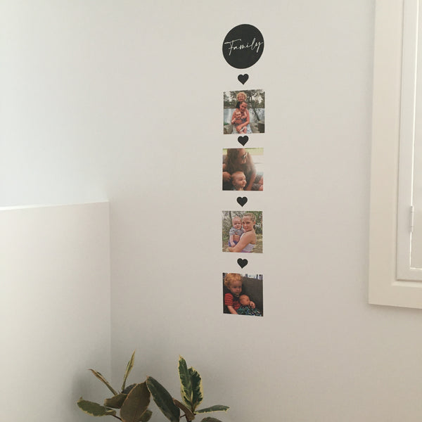 Family Wall Photo Stickers 'Memory Drop' - A Creative Hart