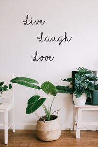 Live, Laugh, Love Wall Decal Quote - A Creative Hart