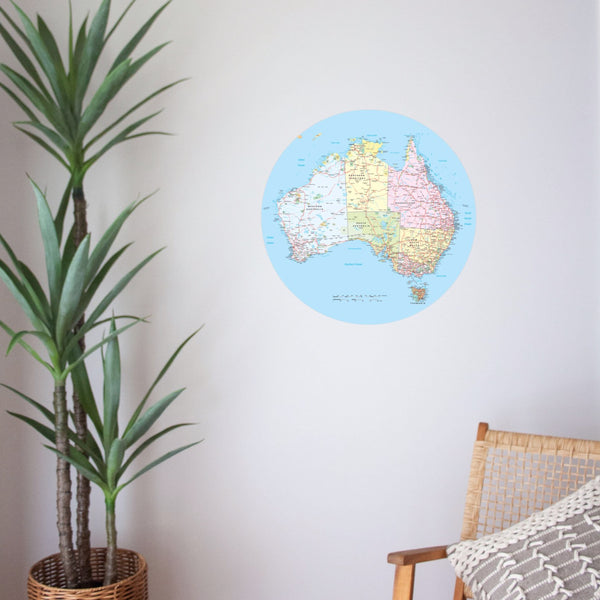 Australia Road Trip Map | A Creative Hart Fabric Wall Decals - A Creative Hart