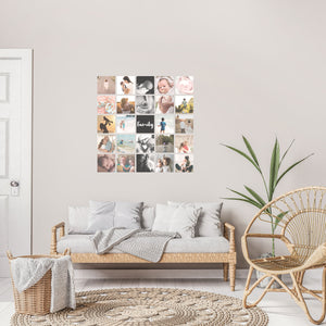 Custom Square Fabric Photo Decal Gallery - Set of 25