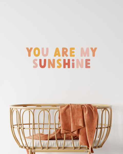 'You are my Sunshine' Fabric Wall Decal Quote | A Creative Hart - A Creative Hart