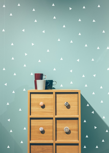 Triangle Fabric Wall Stickers - White - A Creative Hart