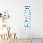 Under the Sea Height Chart Fabric Wall Decal
