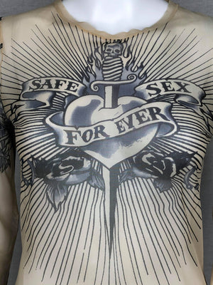 Jean-Paul Gaultier tattoo top