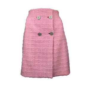 Gianni Versace Couture pink tweed skirt