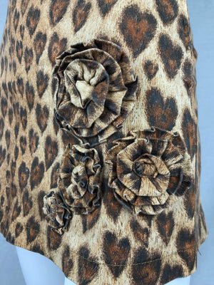 Moschino leopard hearts skirt