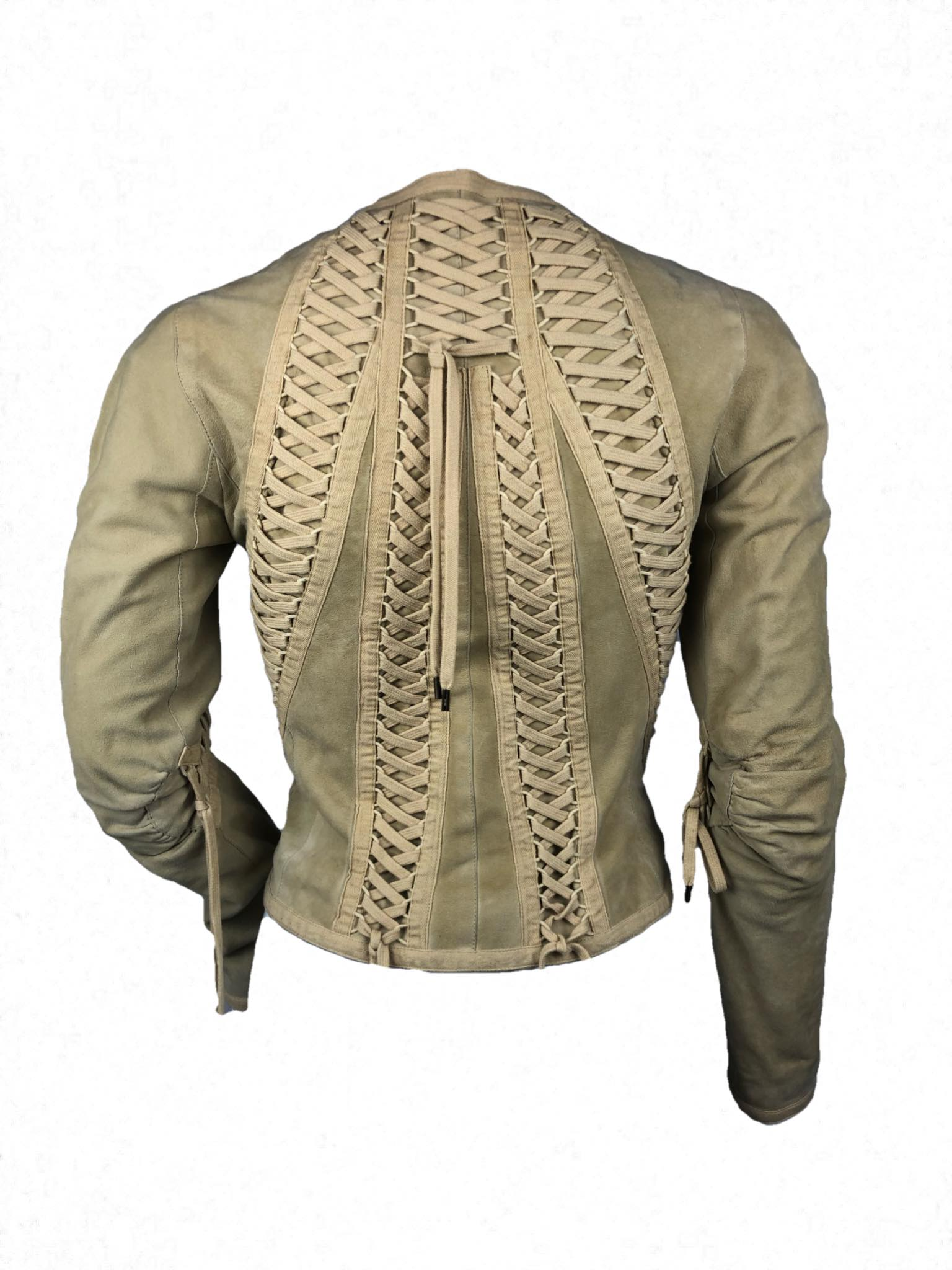 Christian Dior laced suede jacket