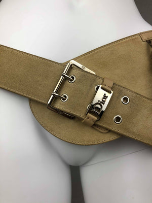 Christian Dior suede Admit It belt