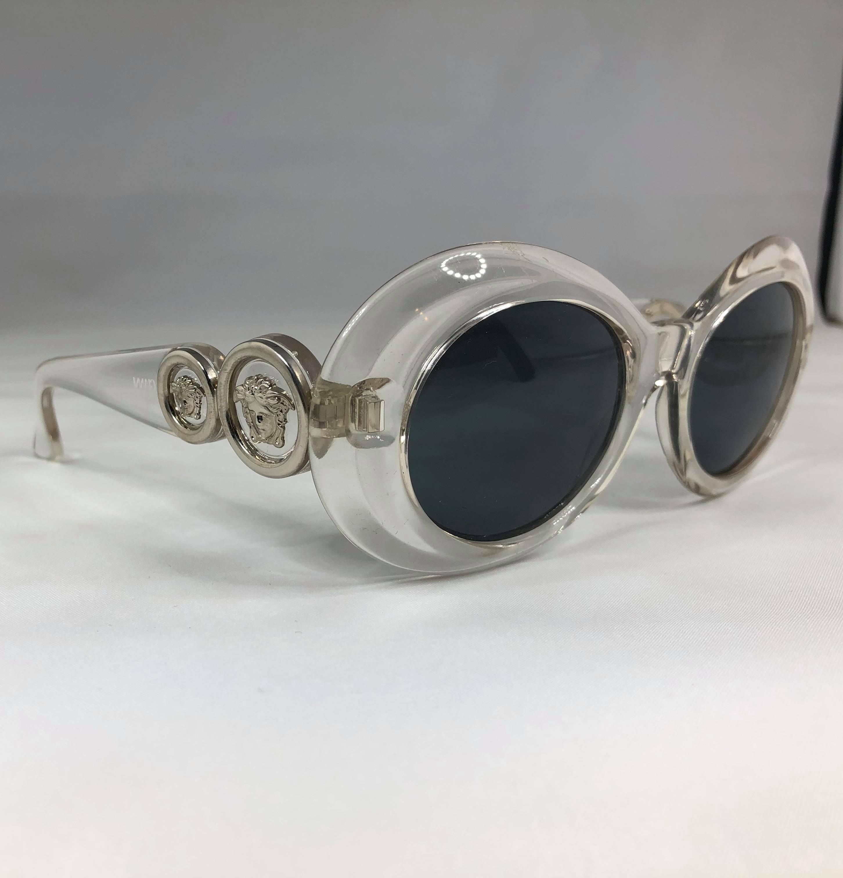 Gianni Versace transparent sunglasses