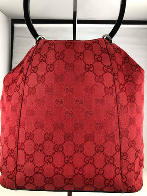 Gucci red monogram bag