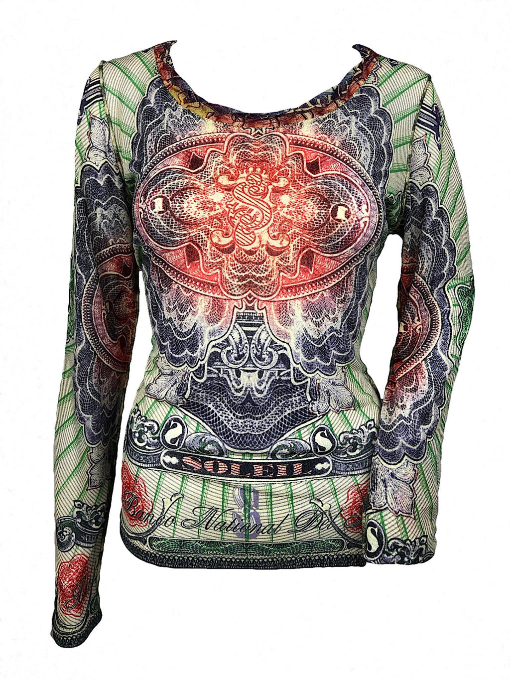 (RESERVED DO NOT BUY) Jean-Paul Gaultier currency long sleeve top