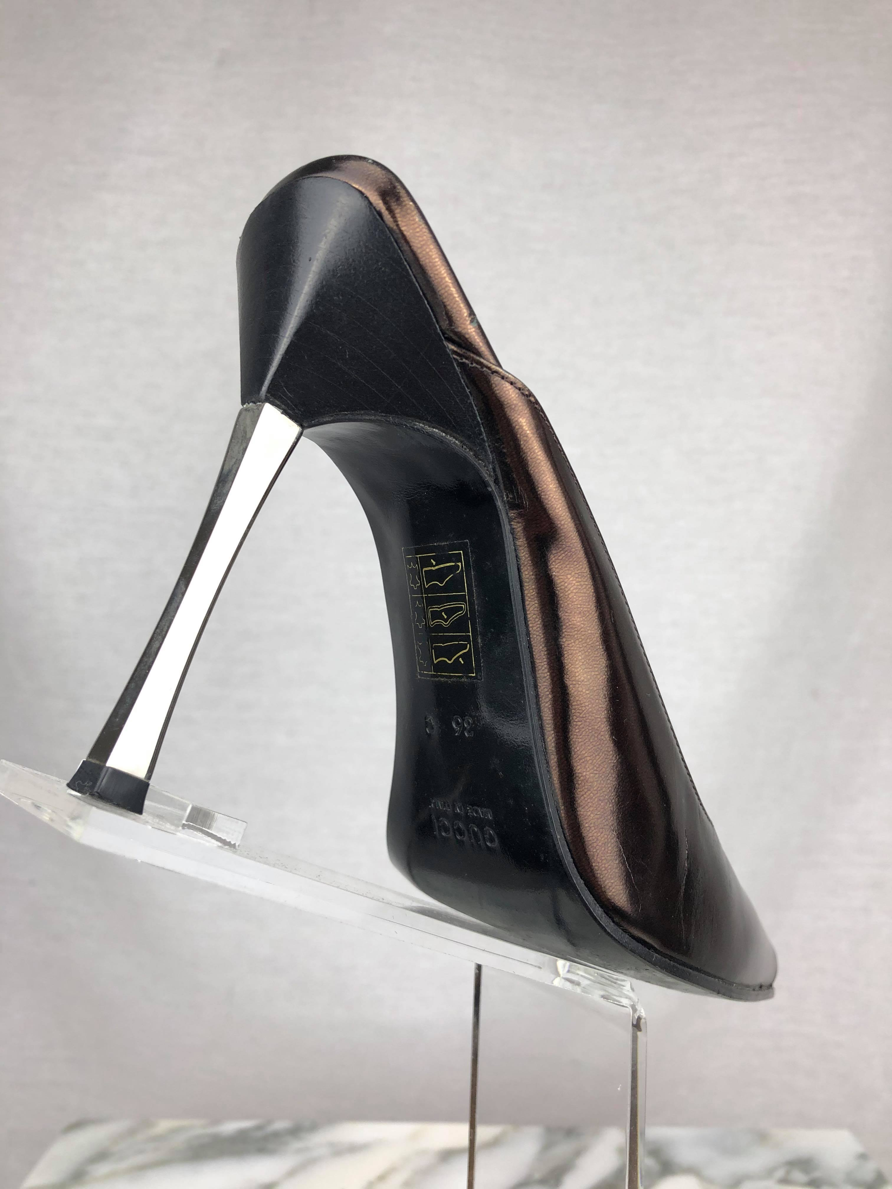 Gucci by Tom Ford metallic heel mules from Fall 1997