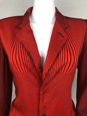 Jean-Paul Gaultier optical illusion blazer