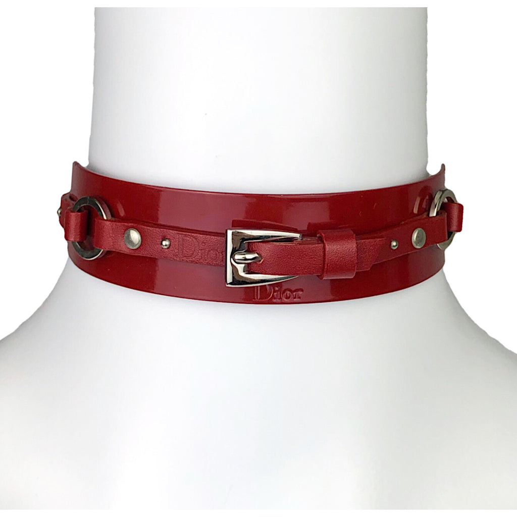 Dior red necklace