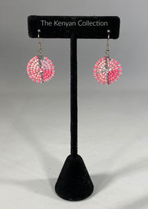 Earrings in Pink