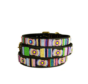 """Posey"" Beaded Dog Collar"