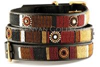 "Load image into Gallery viewer, ""Topi"" Beaded Dog Collar"