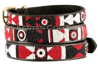 "Load image into Gallery viewer, ""Maasai Shield"" Beaded Dog Collar"