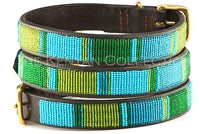 "Load image into Gallery viewer, ""Lagoon"" Beaded Dog Collar"