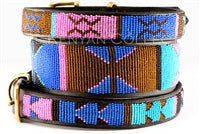 "Load image into Gallery viewer, ""Malindi"" Beaded Dog Collar"