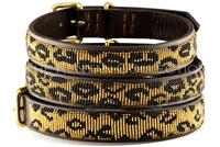 """Leopard"" Beaded Dog Collar"