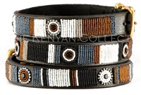 "Load image into Gallery viewer, ""Oryx"" Beaded Dog Collar"