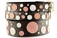 "Load image into Gallery viewer, ""Dots Pink"" Beaded Dog Collar"