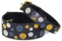 """Metallic Dots"" Beaded Dog Collar"