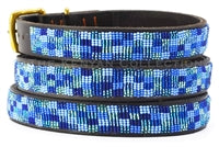 "Load image into Gallery viewer, ""Moonbeam"" Beaded Dog Collar"