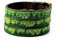 "Load image into Gallery viewer, ""Rainforest"" Beaded Dog Collar"