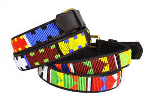 Beaded Belts 1 1/4 inch wide