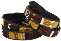 Beaded Belts 1 1/4 inch wide - Earth